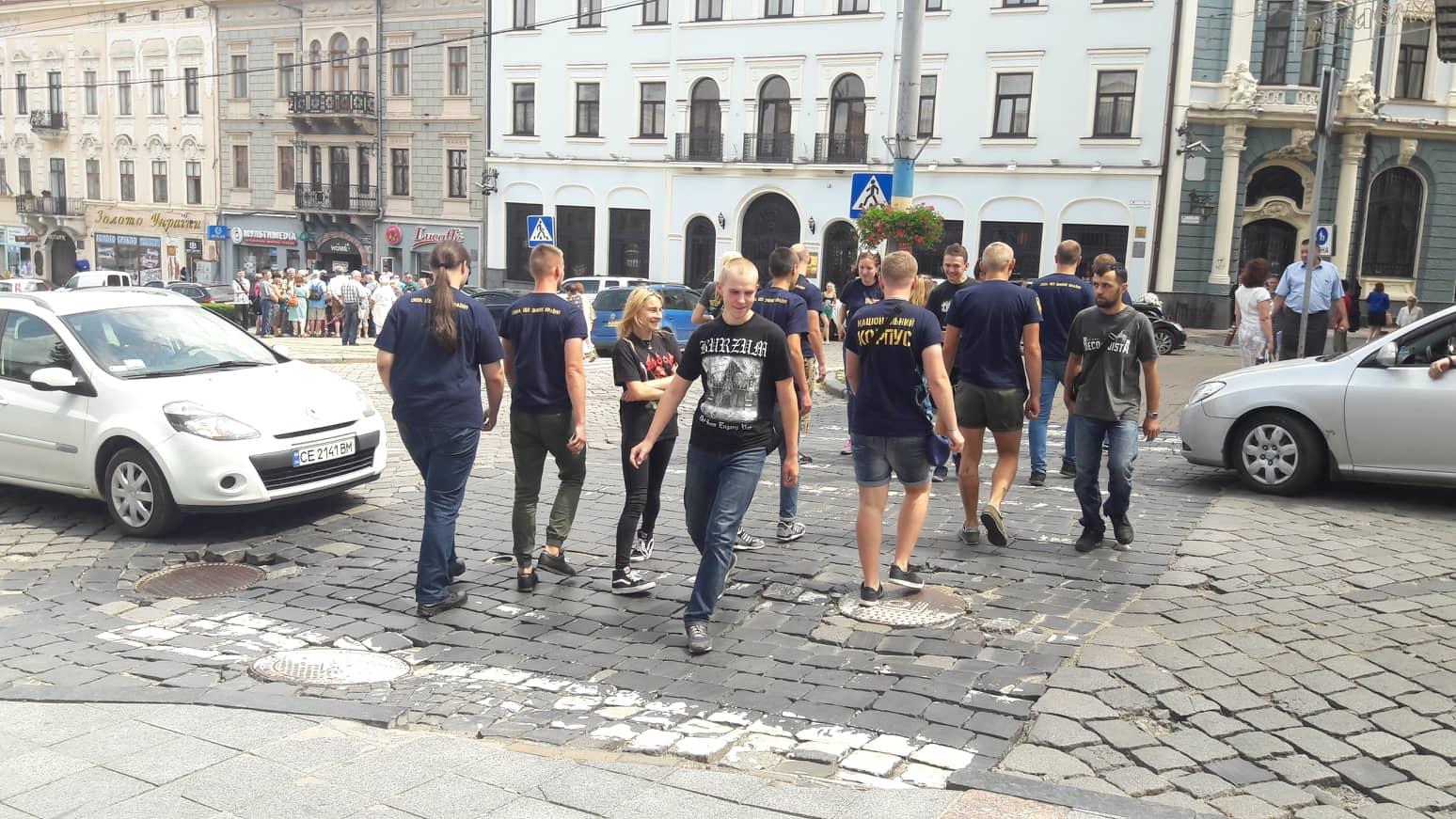 У Чернівцях представники Нацкорпусу перекрили вулицю Головну (відео)
