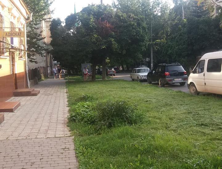 У Чернівцях відновили газон, який знищили, аби влаштувати парковку