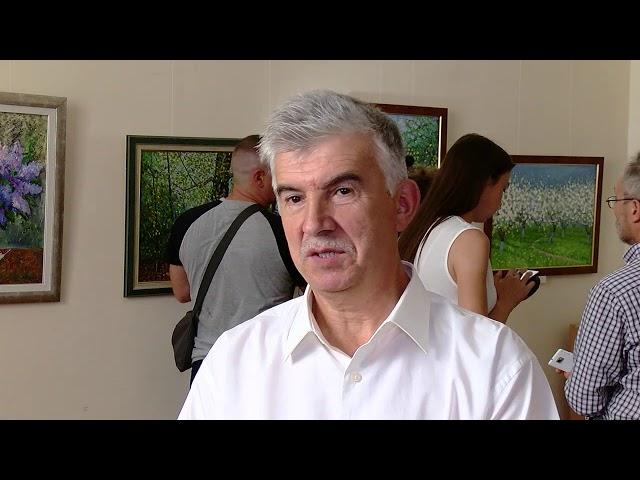 Журналіст із пензлем у руках. У художньому музеї виставка робіт Володимира Дідула
