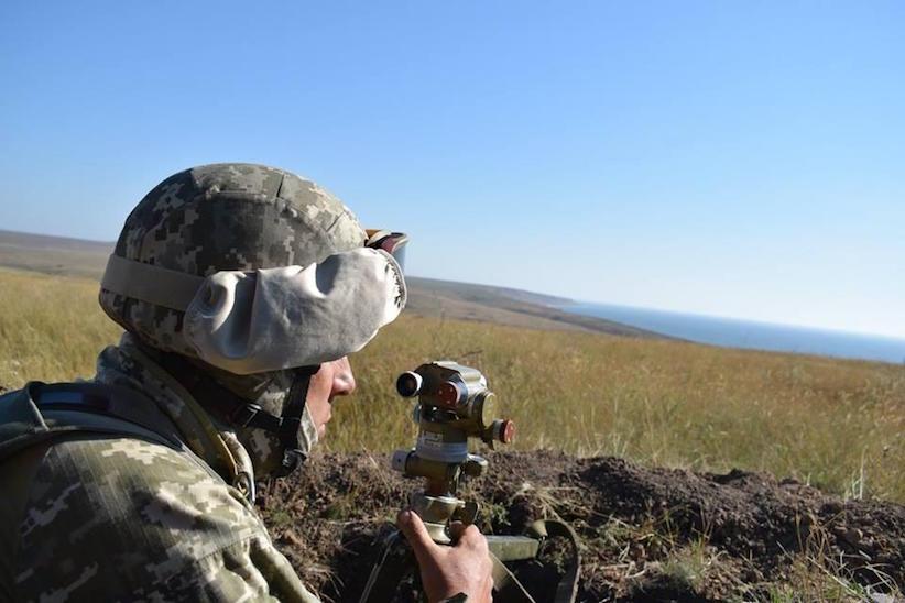 Українські військові зі складу Об'єднаних сил знищили бойову машину противника