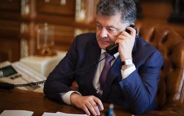Президент Порошенко провів телефонну розмову із Зеленським