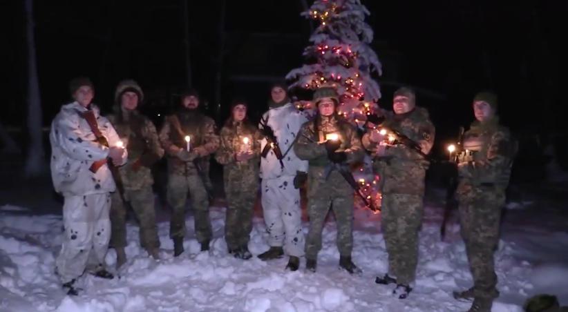 Військові Об'єднаних сил зворушливо привітали українців з Різдвом (відео)