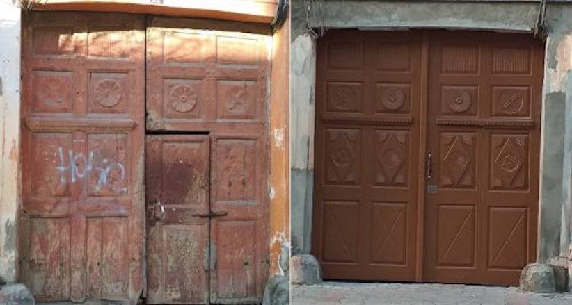 У центрі Чернівців за три роки відновили більше 70 дверей і брам