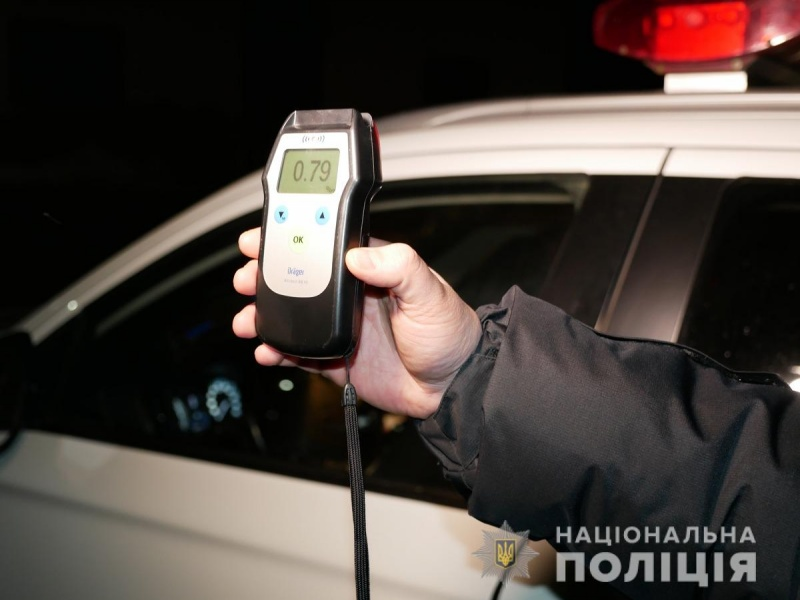 79 випадків керування у стані сп'яніння, 14 аварій – поліція Буковини про перший тиждень року