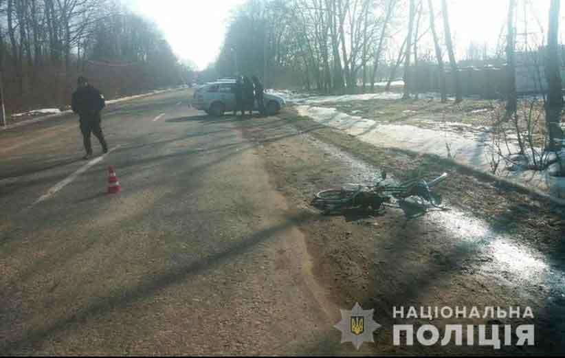 На Буковині ДТП: велосипедист потрапив під колеса автомобіля