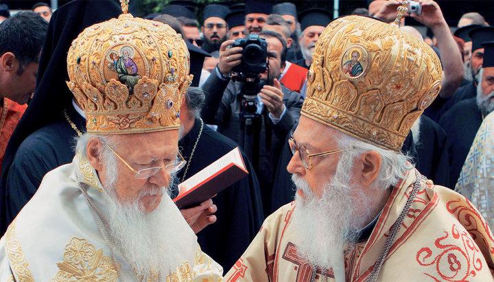 Вселенський патріарх у відповіді архієпископу Албанському розвіяв міфи щодо української автокефалії
