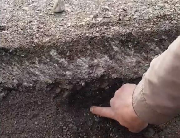 Каспрук вважає, що асфальт на проспекті не витримає й двох років