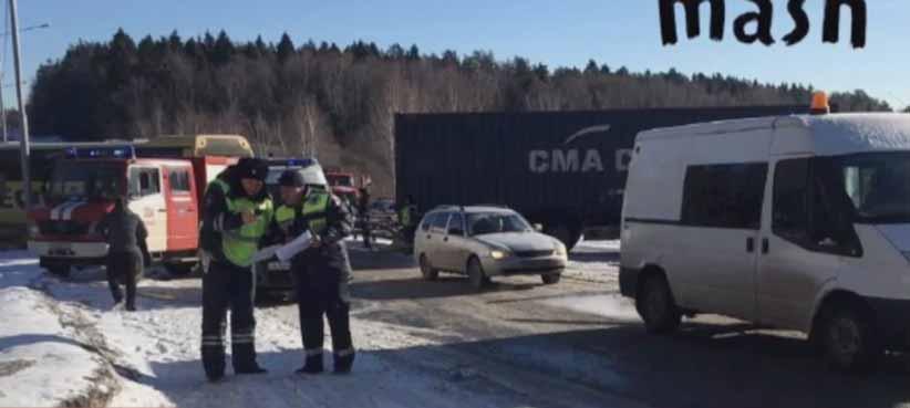 Автобус з українцями потрапив у ДТП під Москвою: є постраждалі