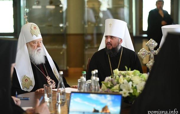 Філарет відмовився розпускати УПЦ (КП) і не підписав рішення Синоду