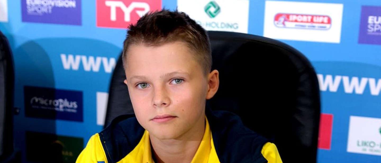 13-річний українець став наймолодшим в історії чемпіоном Європи у стрибках у воду