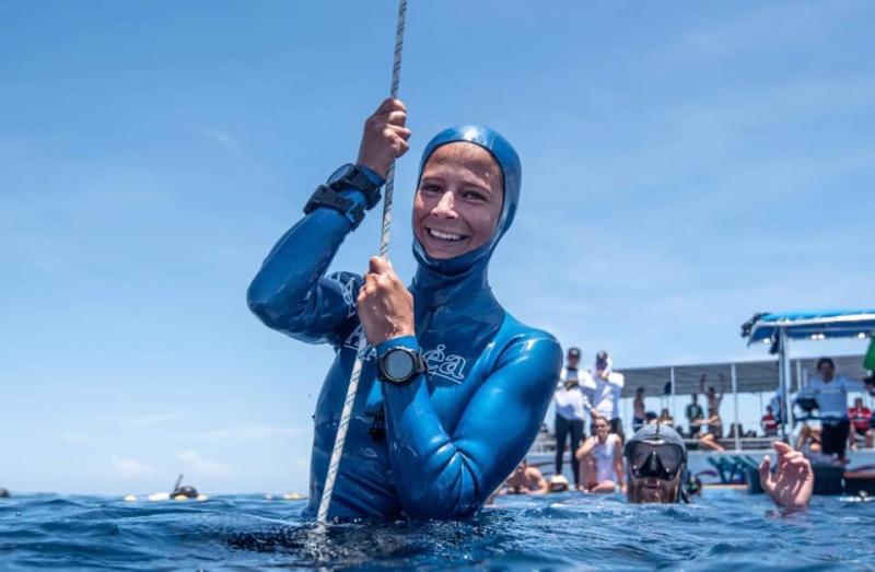 Українка встановила світовий рекорд із глибоководного занурення