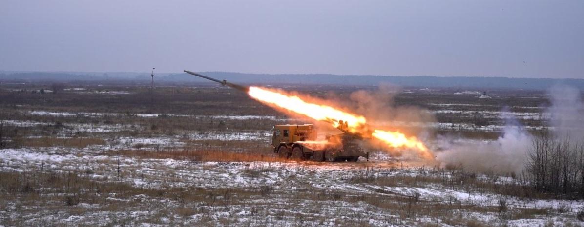 """В Україні пройшли вогневі випробування новітньої РСЗВ """"Буревій"""""""