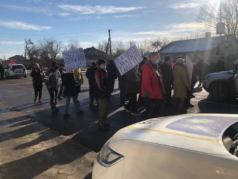 Тарифні протести: у Берегометі селяни знову перекрили автотрасу