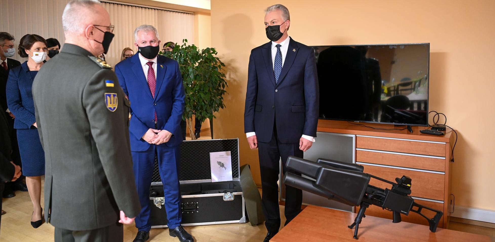 Науседа передав ЗСУ радіоелектронний литовський комплекс протидії дронам