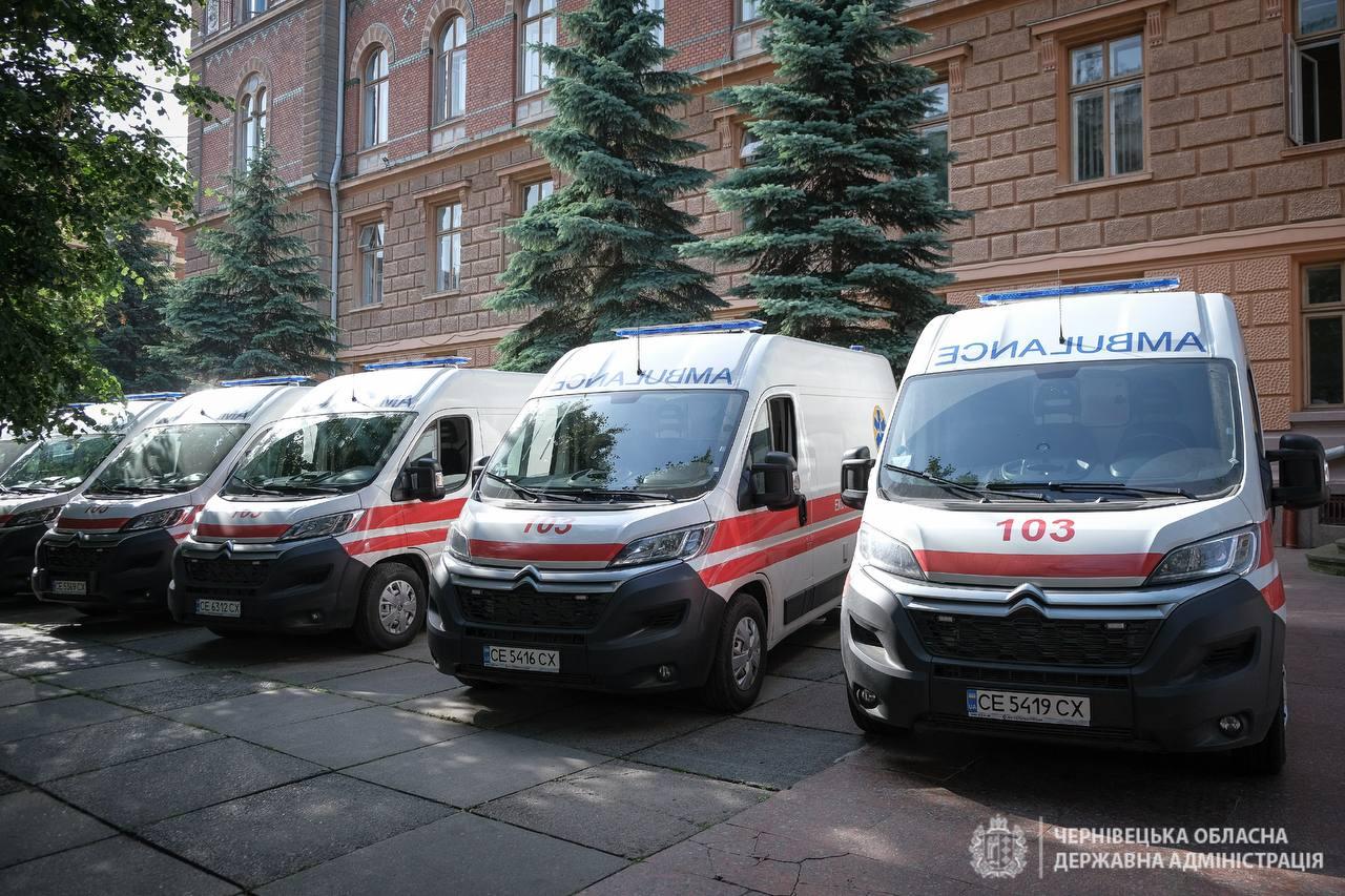 Буковина отримала 23 нові машини швидкої медичної допомоги